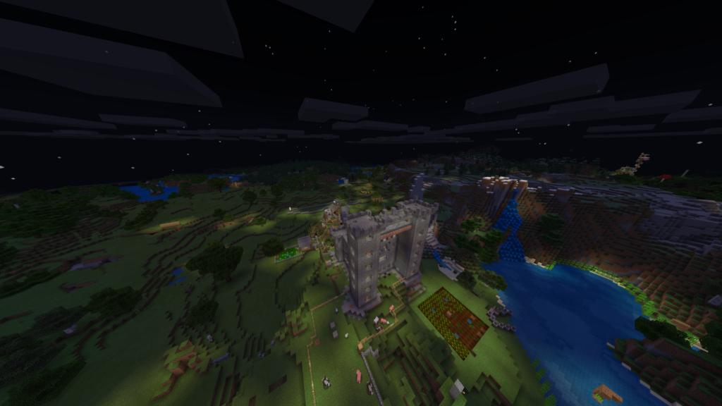 Dvorac sa naseljem i farmama.